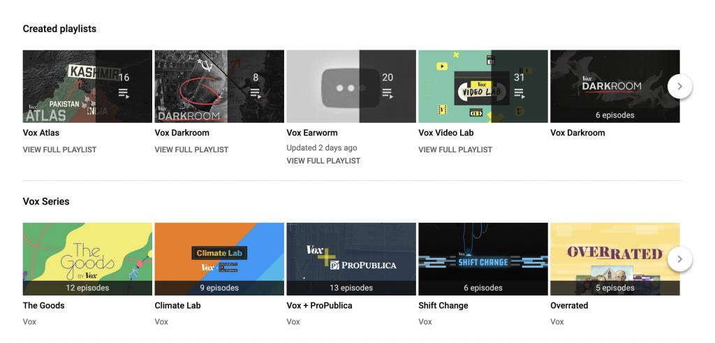 vox youtube playlists