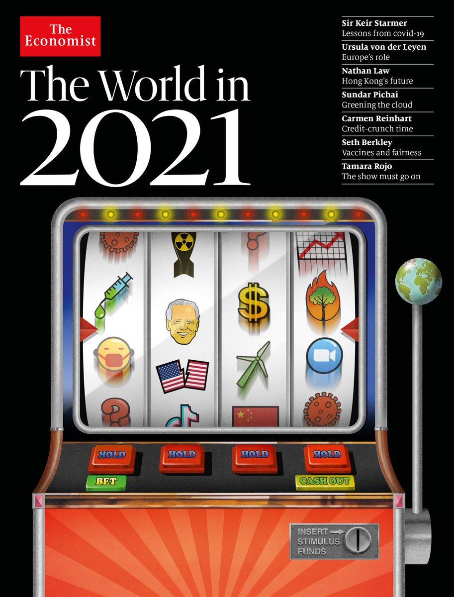 The Economist The World in 2021 kapağı