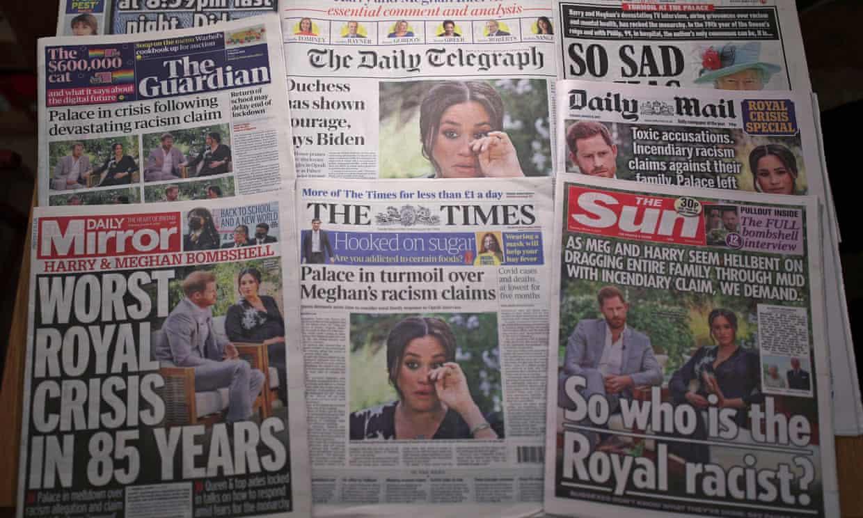 Meghan ve Harry röportajı sonrası İngiliz gazetelerinin ilk sayfaları.