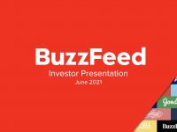 BuzzFeed'in yatırımcılara yaptığı sunumun kapak sayfası.