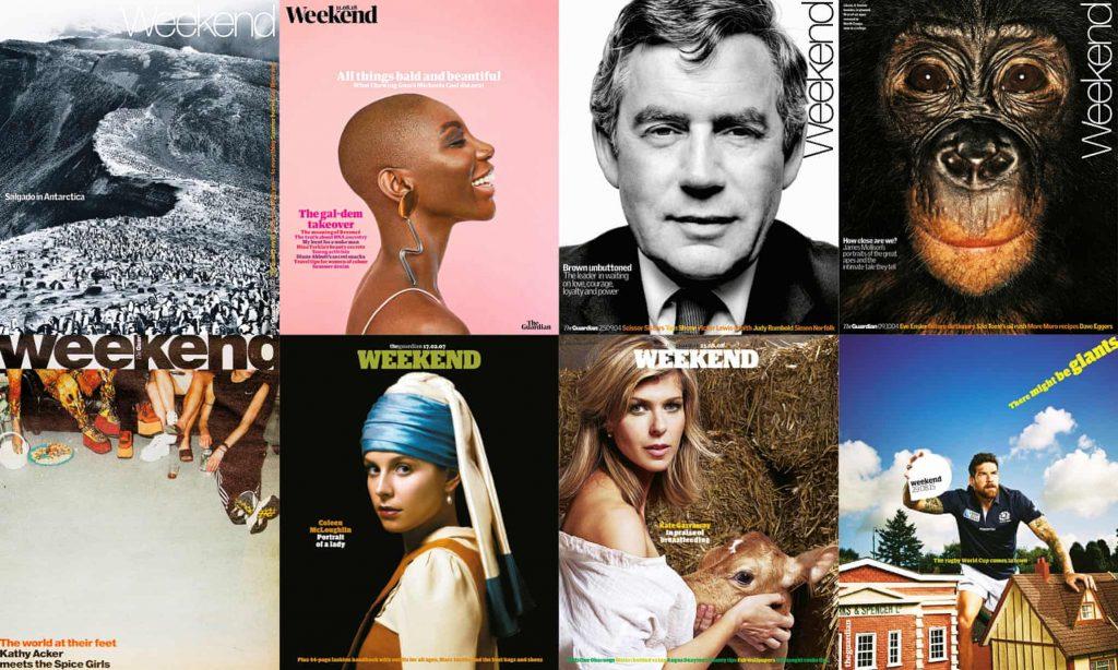 Guardian Weekend kapaklarından bir derleme.